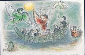 Ulysse et les Sirènes (1974), Lithographie de Marc Chagall, illustrée par André Dacier, BnF